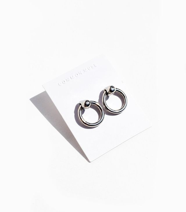 Common Muse Odette Hoop Earrings in Silver
