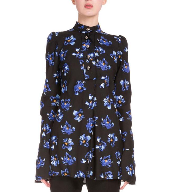 Proenza Schouler Button-Front Floral-Print Tunic