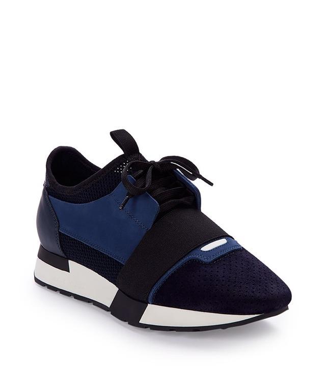 Balenciaga Mixed-Media Leather Sneaker
