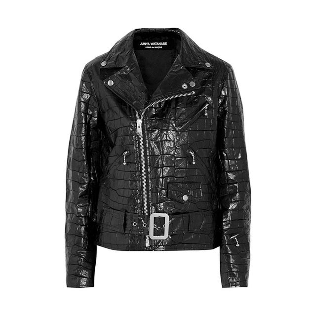 Junya Watanabe Croc-Effect Coated Jacket