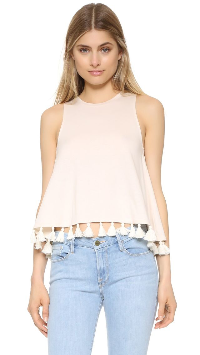 Club Monaco Sylvana Pom Pom Top