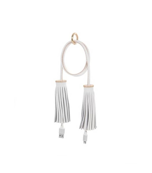Boostcase Tassel Bag Charm and Lightning Charging Cable