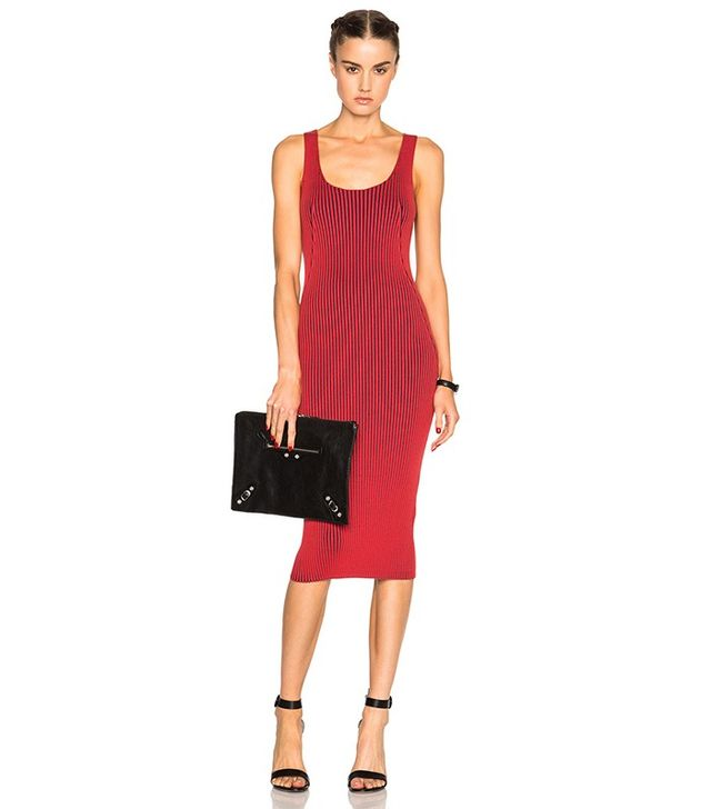 T by Alexander Wang Rib Fitted Tank Dress