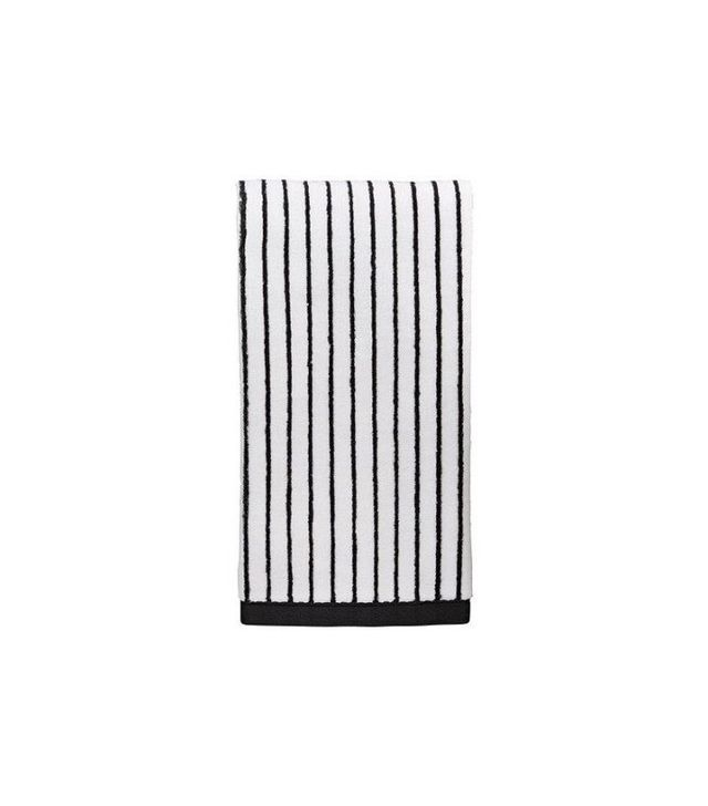 Mainstays Black and White Hand Towel