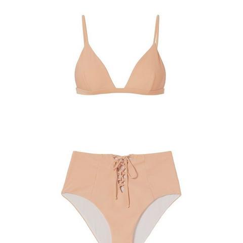 Edie High Waist Lace Up Bikini