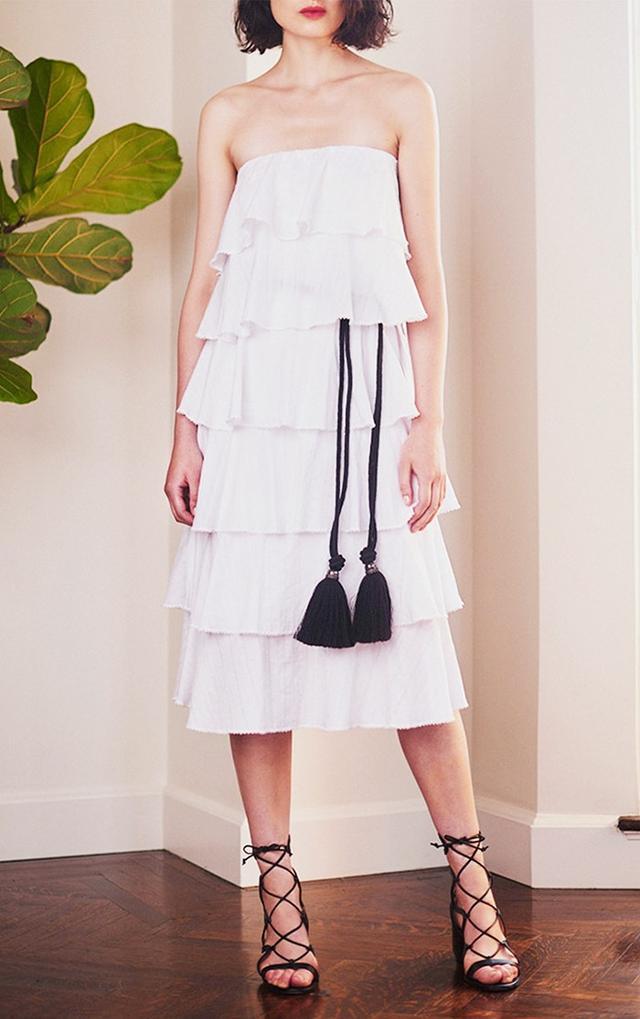 Caroline Constas Margi Tiered Midi Dress