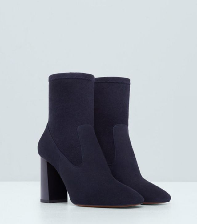Mango Premium Leather Ankle Boots