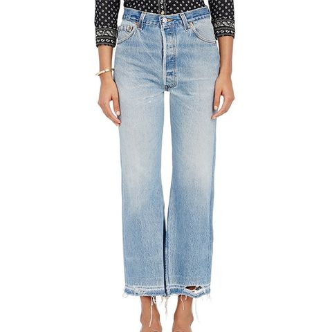 The Leandra Crop-Flared Jeans