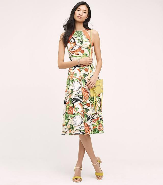 Anthropologie Pineapple Halter Dress