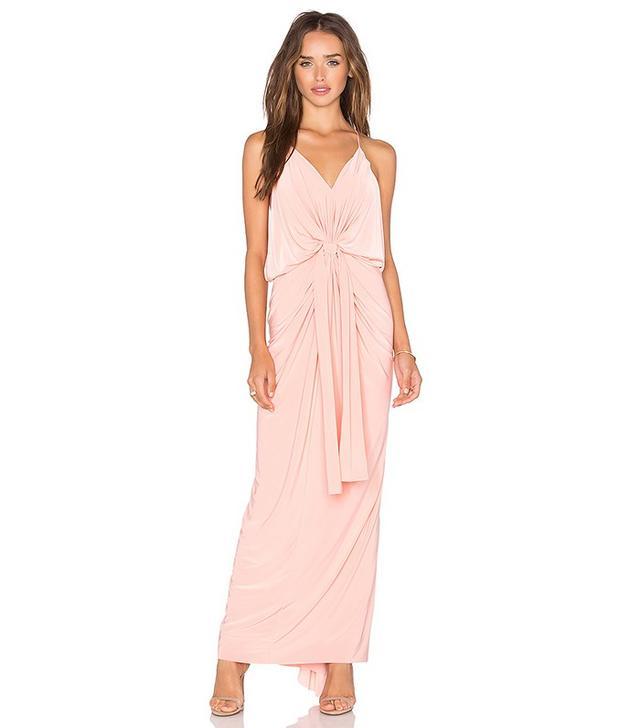 Misa Los Angeles Domino Tie Front Maxi Dress
