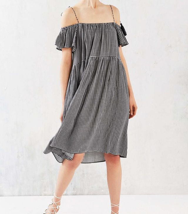 Urban Outfitters Little White Lies Francoise Off-the-Shoulder Dress