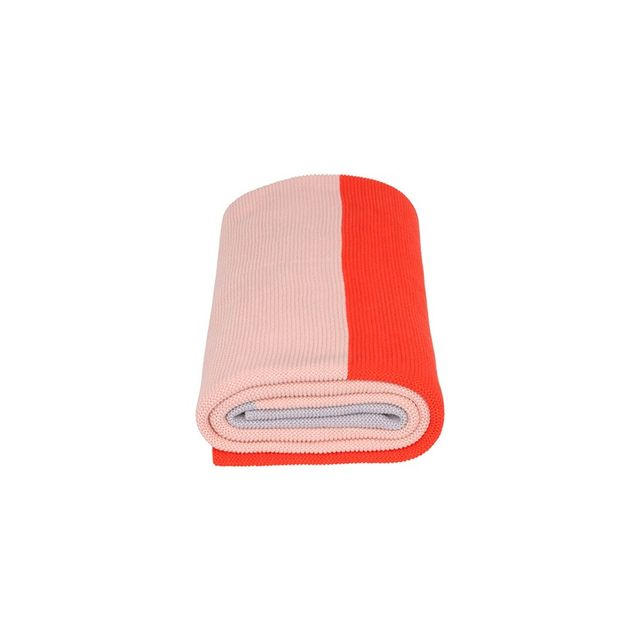 Aura Home Double Dip Throw in Coral