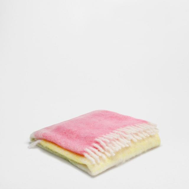 Zara Home Fringe Mohair Blanket
