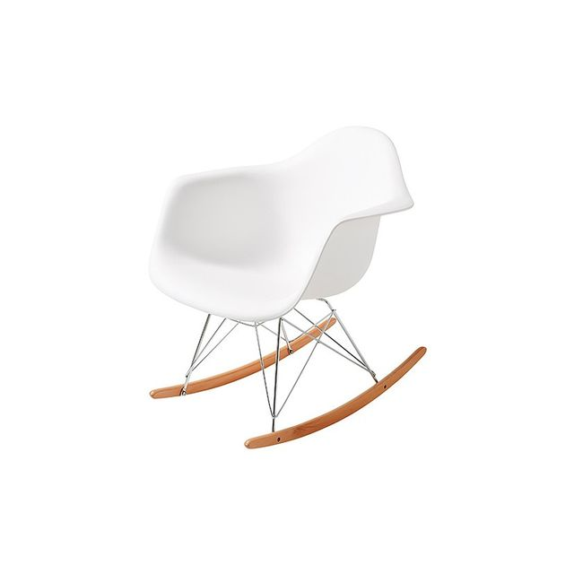 Target Replica Eames DAR Rocking Chair - White