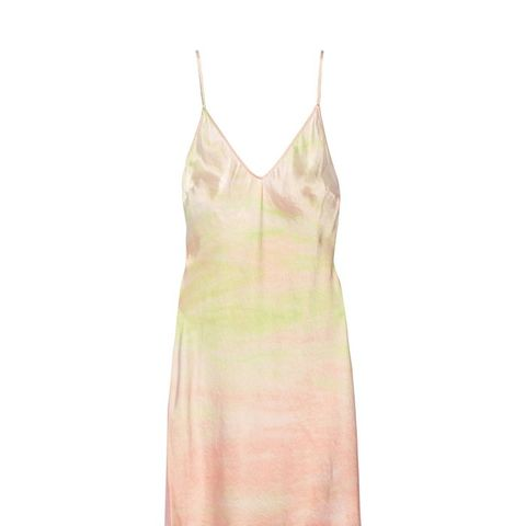 Tie-Dyed Silk-Satin Slip Dress