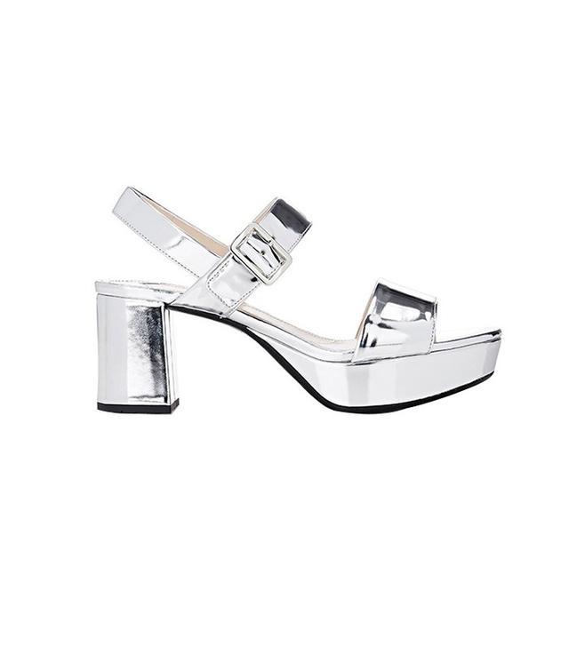 Prada Specchio Double Band Platform Sandals