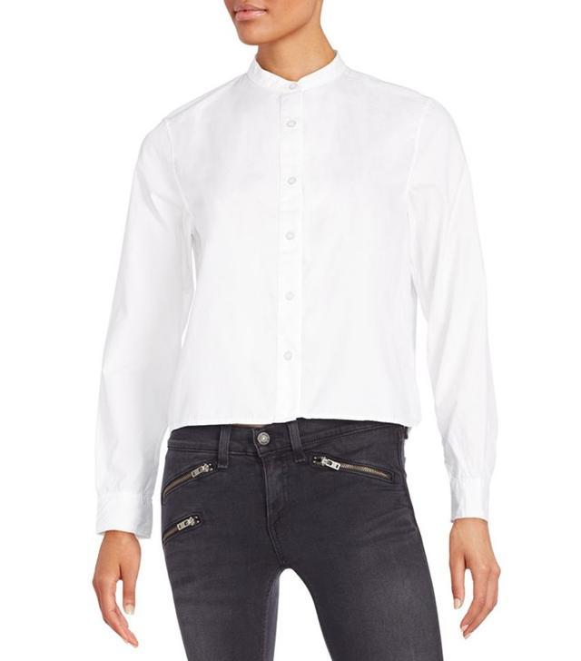 Rag & Bone Jean Cotton Mandarin Collar Shirt