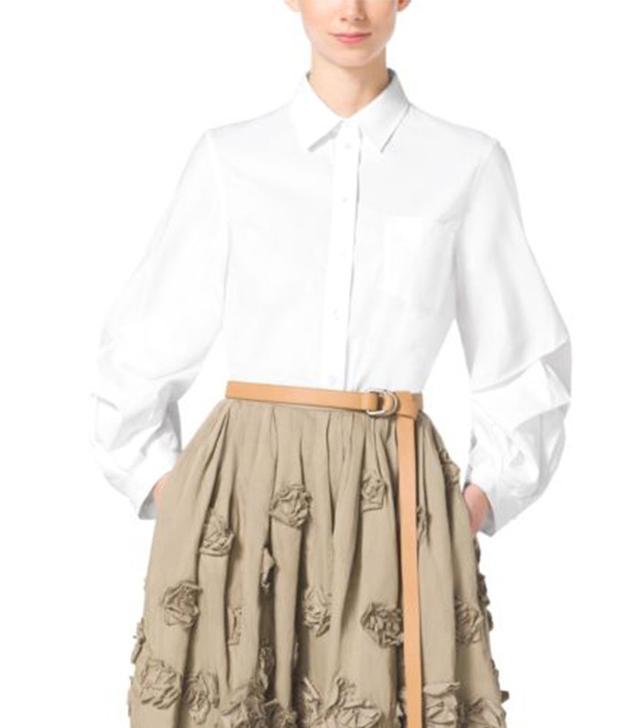 Michael Kors Cotton-Polin Lantern Shirt