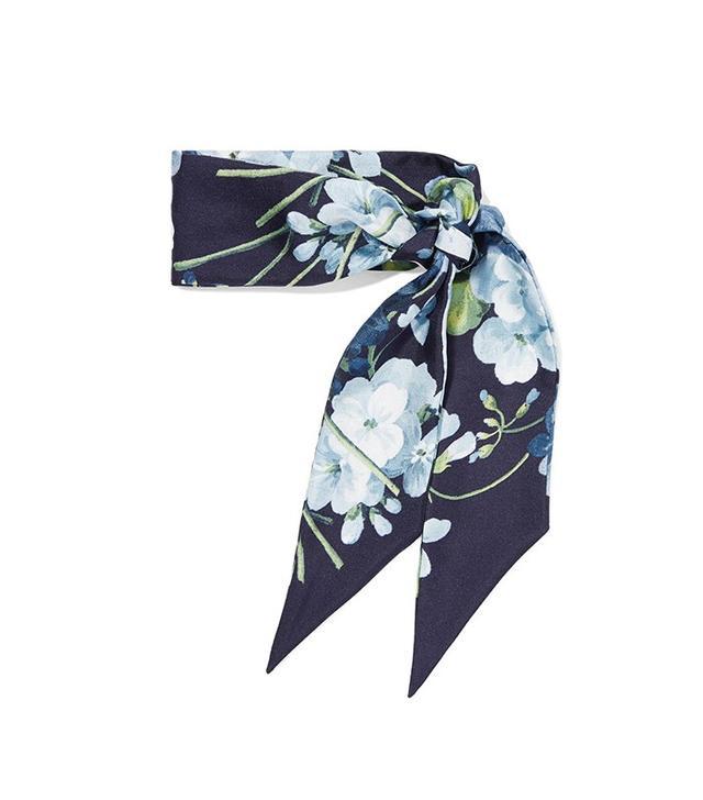 Gucci Floral Print Silk-Twill Scarf