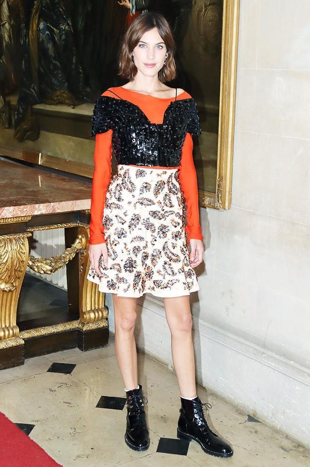 On Alexa Chung:Dior top and skirt.