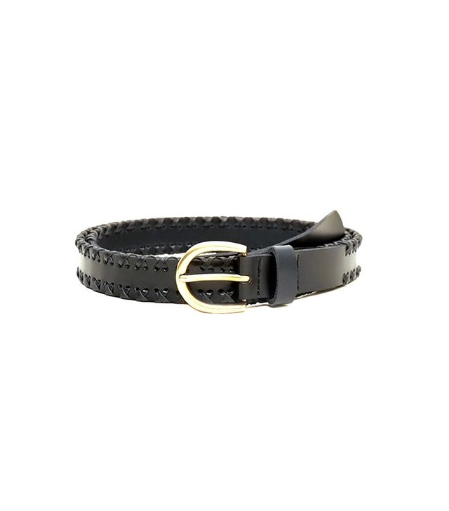 Violeta by Mango Leather Belt