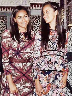 The Obama Girls Coordinated Dresses With Their Mom, and It's So Adorable