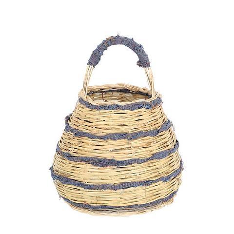 Zafferano Hand-Woven Straw Basket