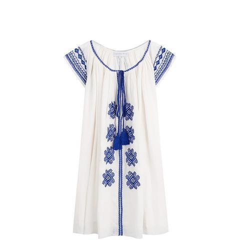 Blohsoi Embroidered Tunic Dress