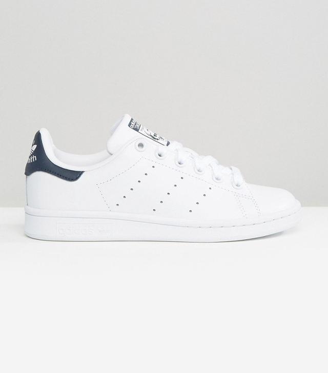 Adidas Originals White and Navy Stan Smiths