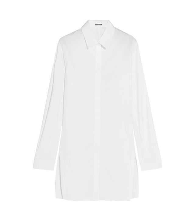 Jil Sander Oversize Cotton Poplin Shirt