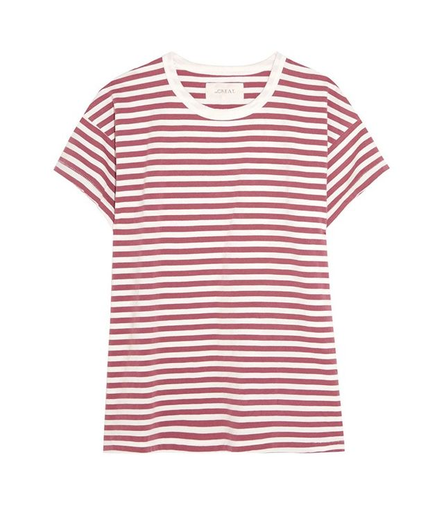 The Great Striped Cotton Jersey Shirt