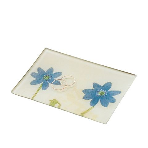 Double Blue Anemone Tray