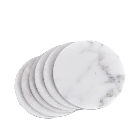 White Marble Coasters