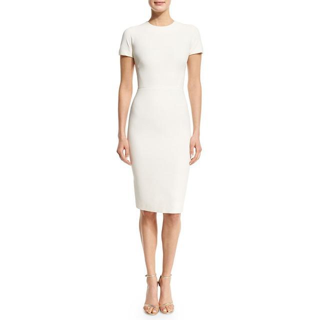 Victoria Beckham Short-Sleeve T-Shirt Sheath Dress