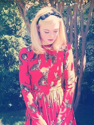 Is Elle Fanning Trying to Make This Unusual Print Happen?