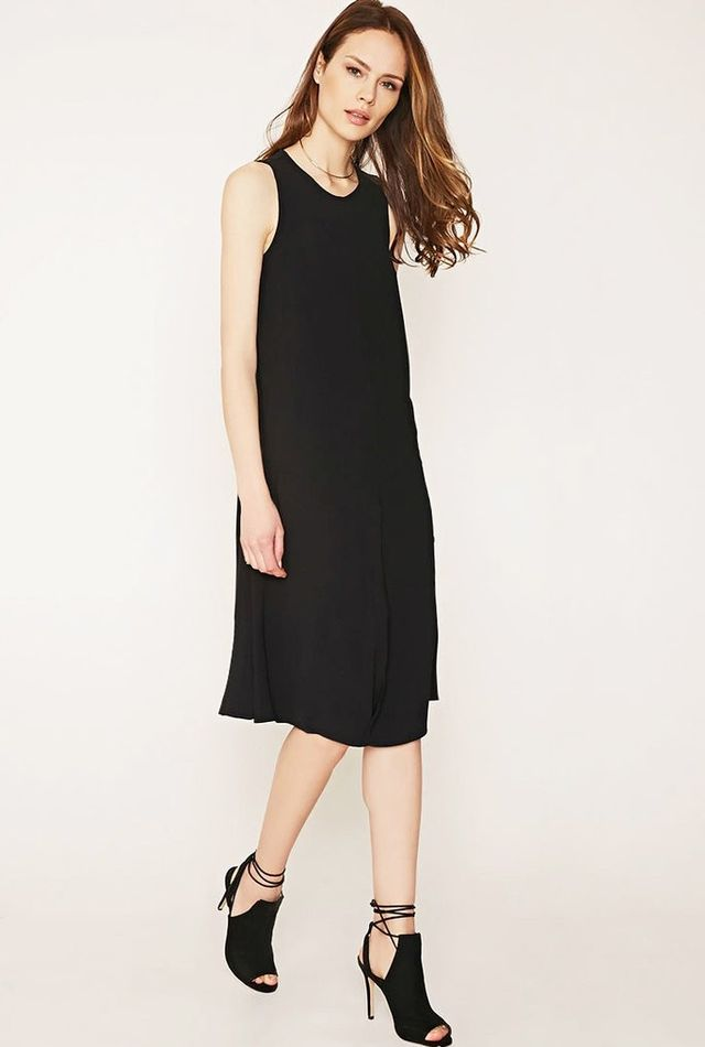 Forever 21 Contemporary Inverted-Pleat Shift Dress