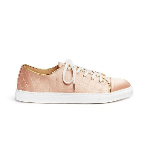 Web Embroidered Silk Satin Sneakers