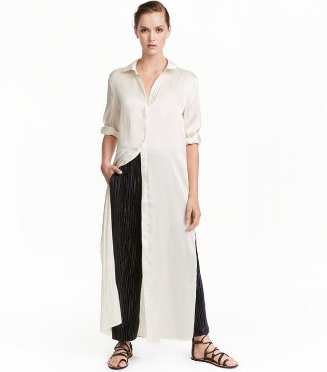 H&M Satin Shirt Dress