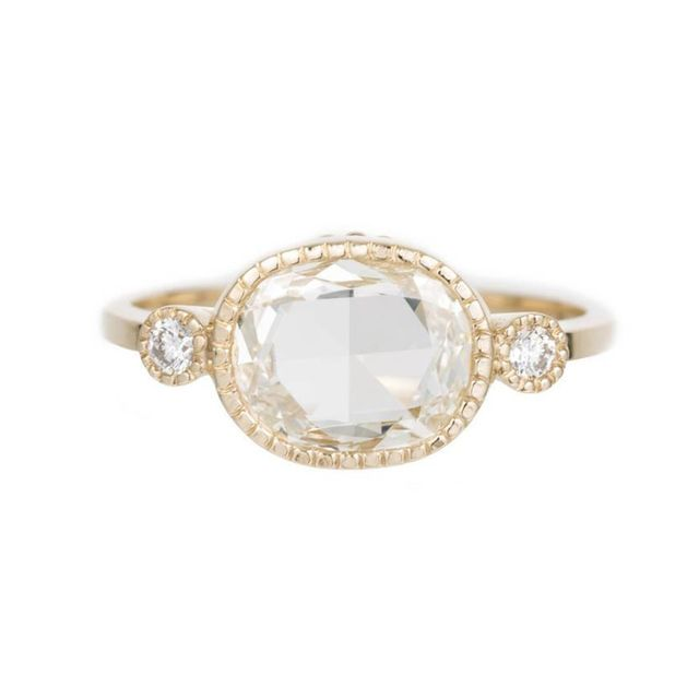 Jennie Kwong Designs 1.06 Carat Oval Slice Elevate Ring