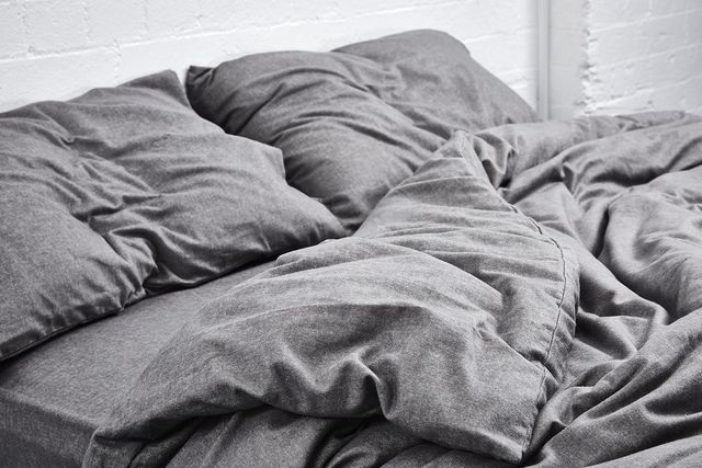 INBED Cotton Flannel Duvet Cover in Grey Chambray