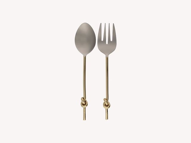 Thirstystone Gold Knot Salad Servers