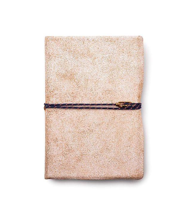 Miansai Carson City White Leather Journal with Brass Clasp