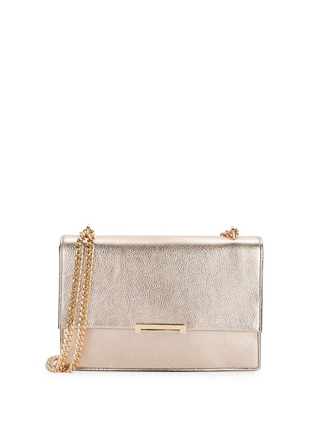 Ivanka Trump Mara Metallic Leather Shoulder Bag
