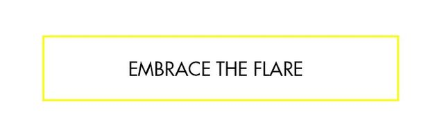 """""""Flares have made aserious comeback over the last few seasons—they suit all body shapes, and even if you're shorter than average, they still work! Just think about..."""