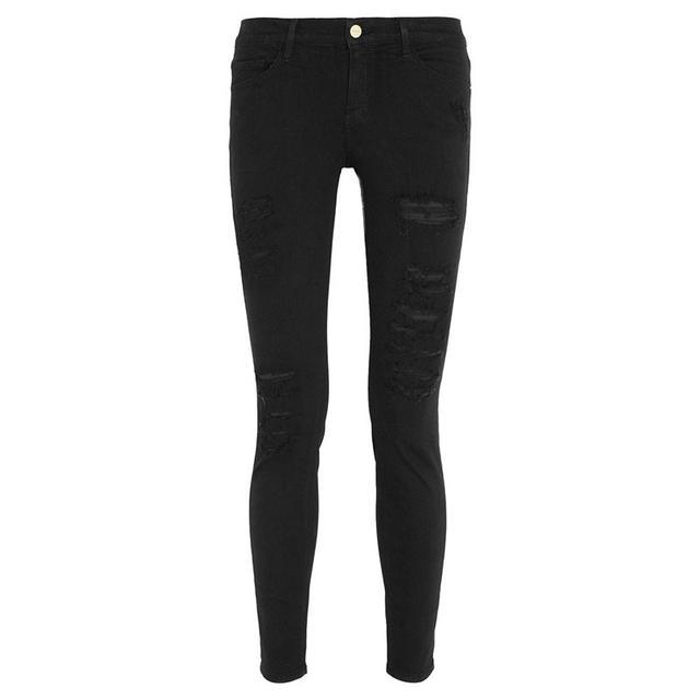 Frame Le Skinny de Jeanne Distressed Jeans