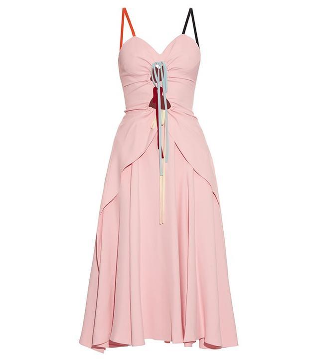 Rosie Assoulin Holey Moley Cut-Out Cady Midi Dress