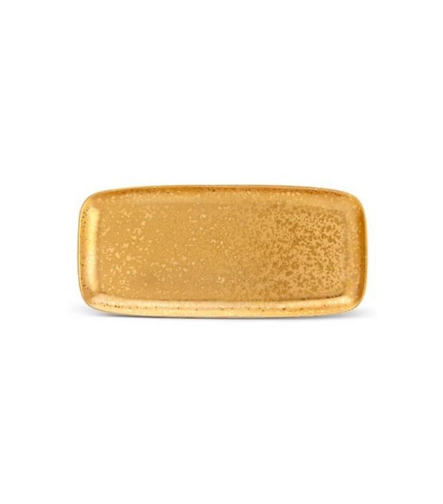 L'Objet Alchimie 24k Gold Rectangular Platter