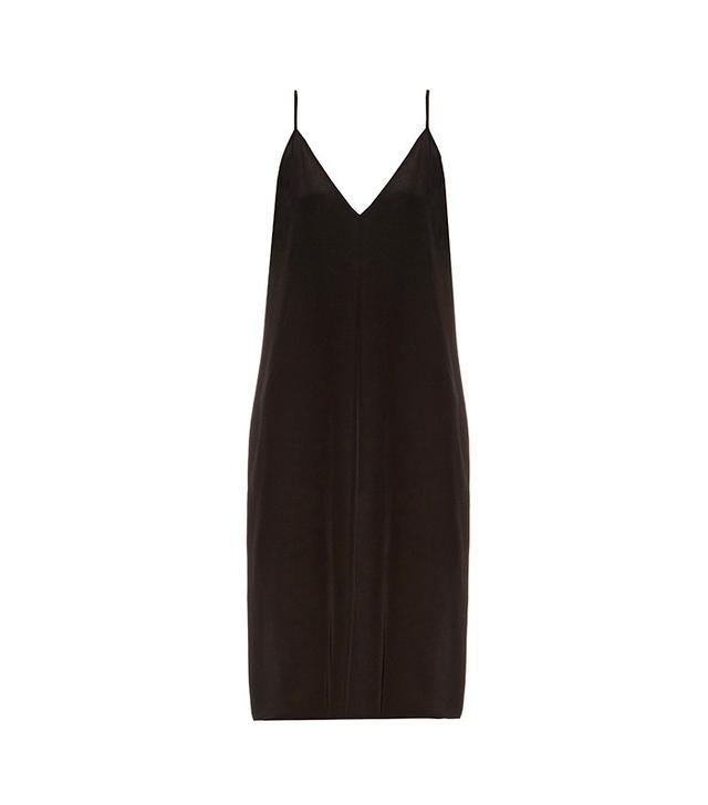 Raey Deep V-Neck Silk Slip Dress