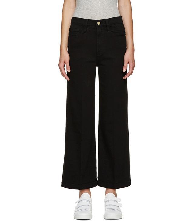 Frame Denim Black Le Capri Crop Jeans