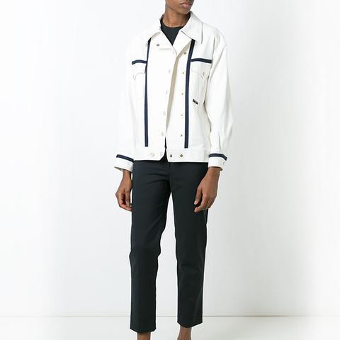 Vintage Contrast Trim Jacket
